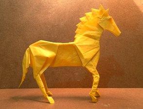 caballo origami