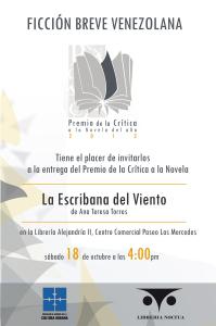 Invitación Premio de la Crítica